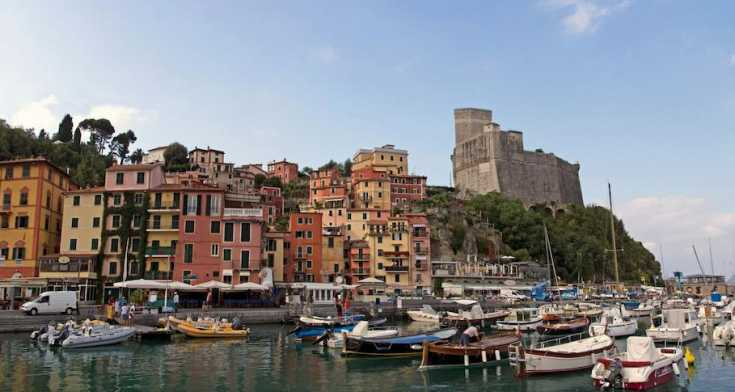 Lerici is a jumble of pastel buildings that jockey for attention with its beaches