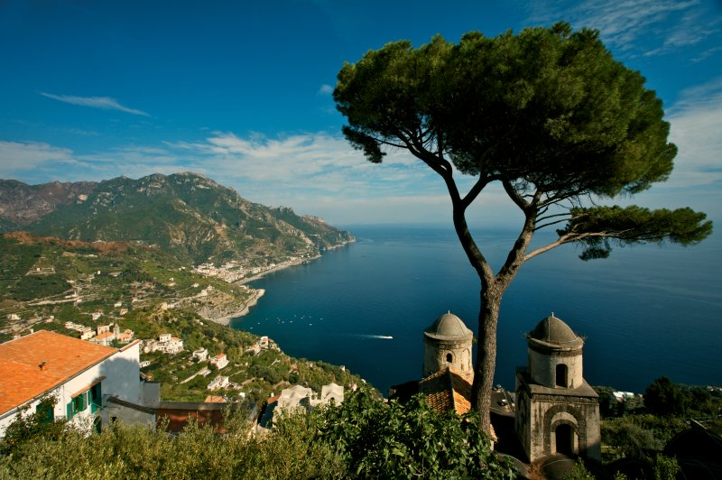 Around the bend from Naples extends the amazingly attractive forty-three stretch of coast called the Amalfi Coast.