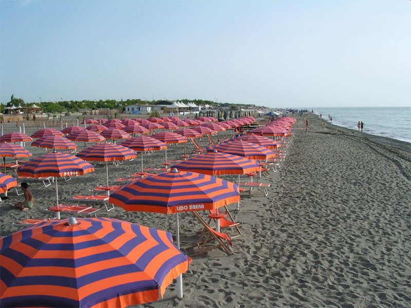 Lido di Policoro is a popular beach in the Italian area of Basilicata.